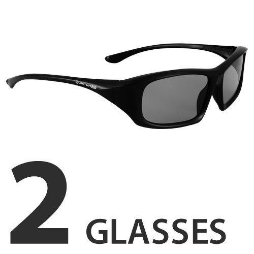 Passive 3D Glasses for Movie Theaters, TVs & Projectors (Slim by Quantum 3D)