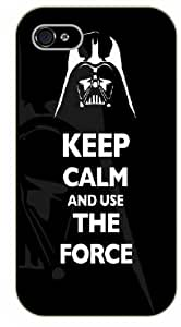 iPhone 5 / 5s Keep calm and use the force, Vader face - black plastic case / Keep calm, funny, quotes, Starwars