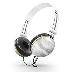 Ankit Marble Noise Isolating Headphones Apple Android Compatible Gifts For Her Over The Ear For Girls Headphones For Kids Earbuds For Running Gym Cool Travel Teens Bass Children With Long Cord Work
