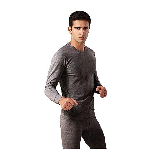 Autumn and winter men's thermal underwear sets(Dark Grey) - 8