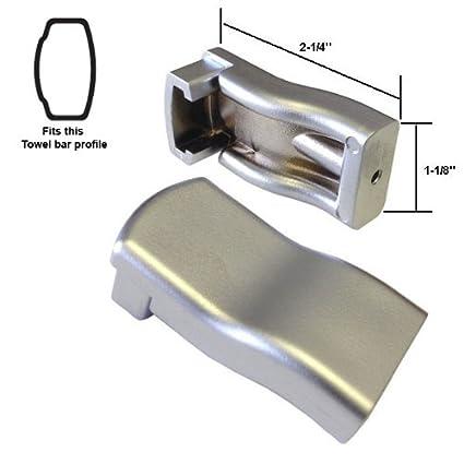 Sterling by Kohler Shower Door Towel Bar Brackets - Matte Silver  sc 1 st  Amazon.com & Sterling by Kohler Shower Door Towel Bar Brackets - Matte Silver ...