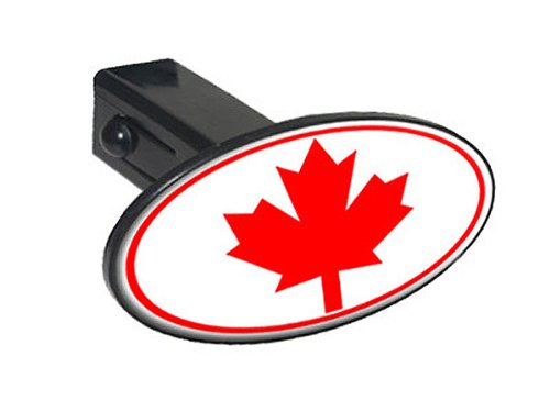 Maple Insert - Graphics and More Canada Canadian Maple Leaf Flag Oval Tow Trailer Hitch Cover Plug Insert 1 1/4 inch (1.25