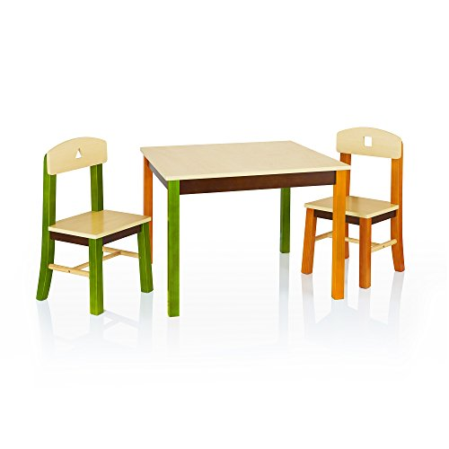Guidecraft See and Store Table and Chair Set - Kids Furniture, Children's Study Activity - Guidecraft Cart Supply Art