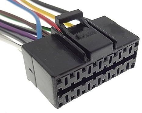 Kabel Anschluss Adapter ISO f/ür Autoradio Sony 16-polig 30x12mm TechExpert