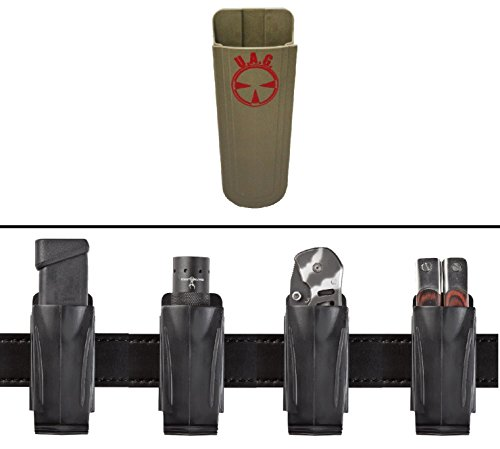 Ultimate Arms Gear Kimber Single & Double Stack 9mm .40 S&W .45 ACP Accordion Flexible Belt Clip Pouch Holder Fits Pistol Magazines, FDE Flat Dark Earth Tan
