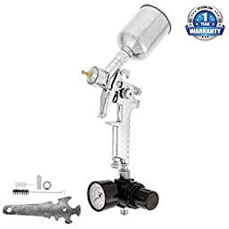 HVLP MINI-TOUCH UP SPRAY GUN SET -1.0 mm Nozzle set up for Auto Paint Primer Topcoat Touch-Up - Ideal for touching-up spots, panel repairs, door jambs, and difficult-to-reach areas