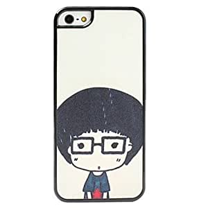 Cartoon Short Hair Girl Pattern Frosted Surface Hard Case for iphone 4s