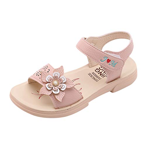 Leisuraly Girls' Dress Shoes Ballet Mary Jane Flat Glitter Shoes for Toddler Little Kids Princess Wedding Party Beige