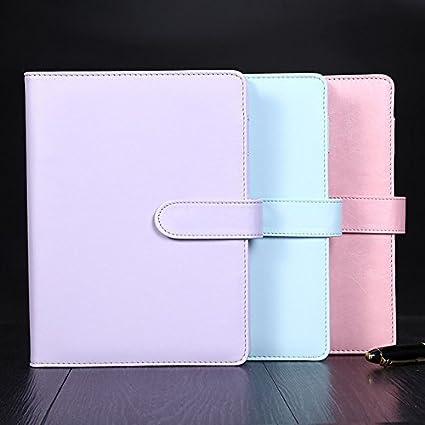 Cute Macaron Cuaderno en espiral Creative A5/A6 de piel ...