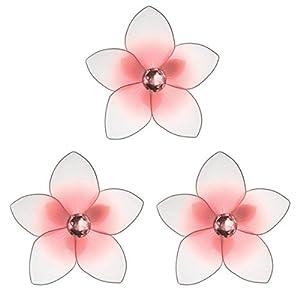 "The Butterfly Grove Makena Plumeria Flower Decoration 3D Hanging Mesh Nylon Decor, Pink Carnation, Mini, 3"" 31"