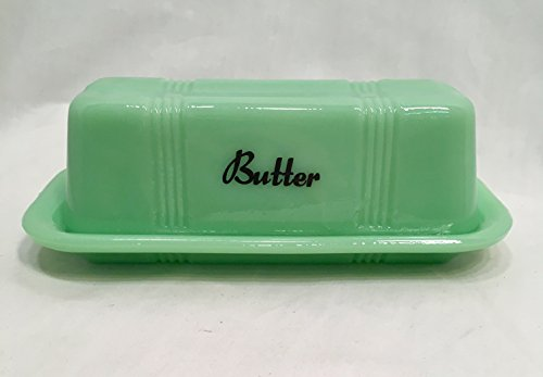 Jadeite Green Butter Dish - Reproduction Depression Glass Antique Vintage (Depression Dish)