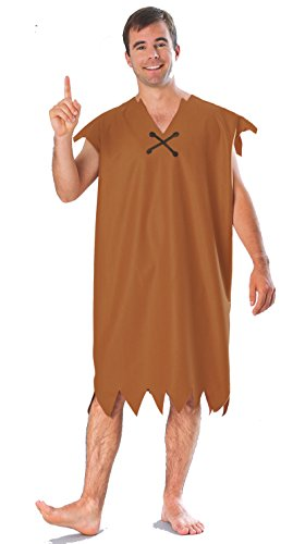 [15744Standard Large Barney Rubble Adult Costume] (Wilma Flintstone And Betty Rubble Costumes)