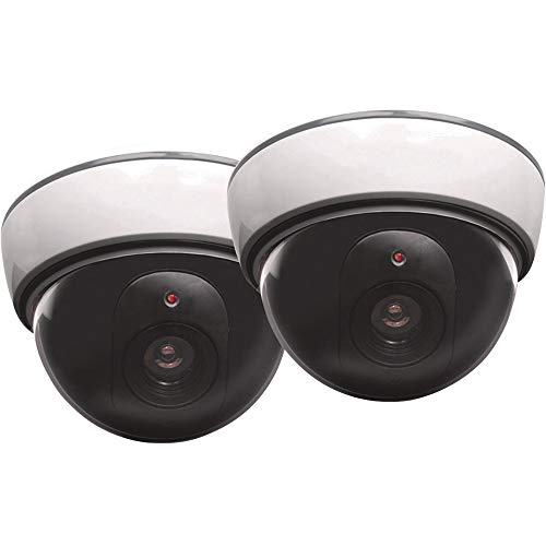 Ironton Battery Operated Simulated Decoy Surveillance Dome Cameras - 2-Pk.