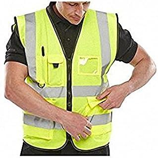 B Seen Portwest Hi Vis-Gilet AD Alta visibilità Gilet da Lavoro di Sicurezza Europei EN471, Colore: Giallo BSEEN