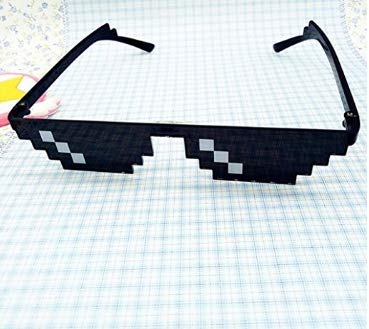 Dasuke Thug Life - Gafas de Sol (8 bits, con Gafas de Sol, Juguete Unisex)