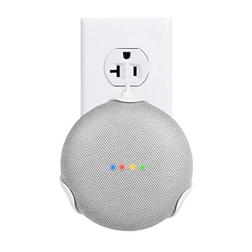 LANMU Outlet Wall Mount Holder Compatible with Google Home Mini Voice Assistant, Plug-in Mount Bracket, Space-Saving Accessories