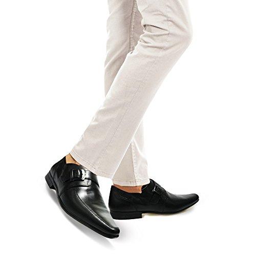 sin hombre Black botas Strap cordones Xelay Monk qvpP8Z