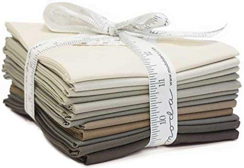 Bella Solids Taupes 12 Fat Quarters Moda Fabrics 9900AB 121