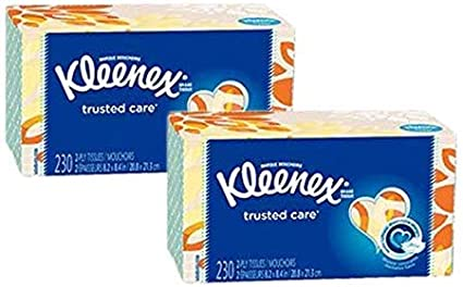 4 Boxes KLEENEX Trusted Care 230 Count 2-Ply Tissues