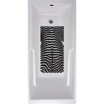 - No Slip Mat by Versatraction 14x27 Kahuna Grip Bathmat-Zebra, 14