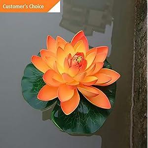 Hebel Artificial Lotus Flower Fake Floating Water Lily Garden Pond Fish Tank Decor Cal   Model ARTFCL - 22   71