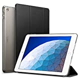 ESR Yippee Trifold Smart Case for iPad Air 3 2019, Auto Sleep/Wake Lightweight Stand Case, Hard Back Cover Smart Case, Black