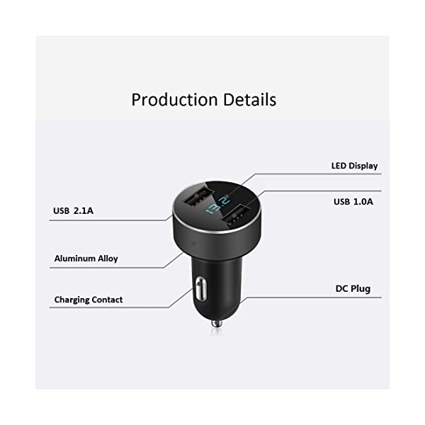 USB Car Charger12v24vLED Voltage Monitor For IPhone 6sPlusiPad ProiPad MiniSamsung Galaxy Note SeriesS SeriesEdge ModelsLG G4G5Google NexusOther Android Devices