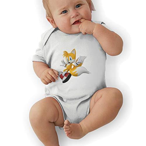 PopNoun Babys SONIC Hedgehog 3D TAILS Cosy Short Sleeve Jumpsuit Outfits 6M ()