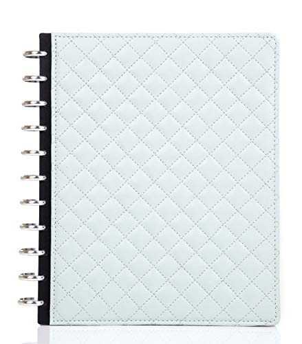 Talia Discbound Notebook, Customizable, Note Taking, Planner, Business - Professional Series (Mint Quilted Sturdy Cover, Letter (8.5in x 11in)) (Best Notebooks For Note Taking)