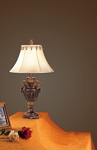 Poundex PDEX-F5204 Bobkona Collections Resin Table Lamp, Set of 2, 27\