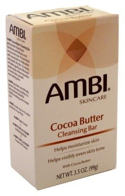 Ambi Cleansing Bar Soap Cocoa Butter 3.5oz (3 Pack)