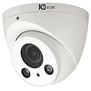 "IC Realtime ICR-300H4W Indoor/Outdoor Mid-Size IR HDAVS Waterproof Dome Camera (White); 1/2.7"" 2.1 Megapixel CMOS Image Sensor; Effective Pixels 1928(H) x 1088(V); Electronic Shutter 1/3s~1/300000"