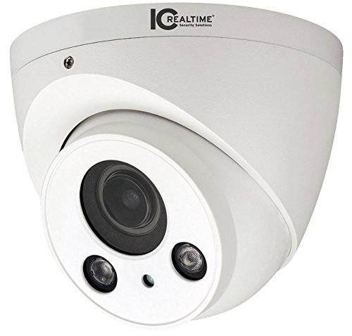 IC Realtime ICR-300H4W Indoor/Outdoor Mid-Size IR HDAVS Waterproof Dome Camera (White); 1/2.7