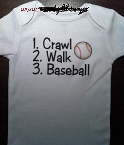 Mlb Player Phillies (crawl walk baseball onesie future baseball player infant one piece)