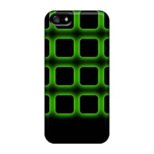 Case Cover Protector For Iphone 5/5s Green Icons Frame Case