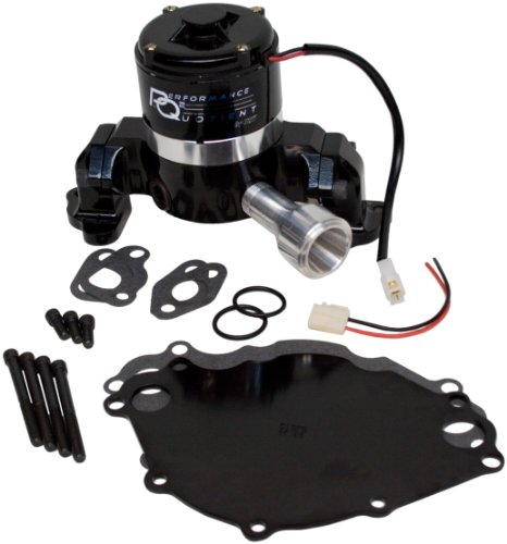 PRW 4430217 Black Powder-Coated Performance Quotient Electric Racing Water Pump for Ford 302-351W