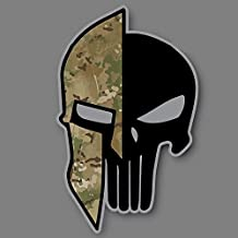 """Size: 2.75"""" x 2"""" In. Yeti Multicam Punisher Spartan.Can Be Applied to any Smooth and Clean Surface: Windows, Walls, Car Body, Car Bumpers, Laptops, Folders, etc. Buy - Edwin Group of Companies."""