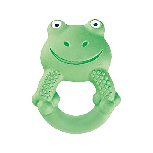 MAM Baby Toys, Teething Toys, Max The Frog 100% Natural Rubber Developmental Teether Toys,