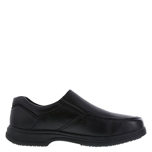 Image of safeTstep Black Men's Slip Resistant Comfort Moc Slip-On 7.5 Regular