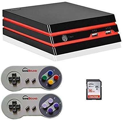 2018 HDMI/AV Retro Video Game Console 16 GB SD, 1000 Games built-in, 2x SNES wired controllers (RS-93)