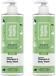 Hello Bello Baby Shampoo & Body Wash - Tear-Free, Hypoallergenic, Dermatologist & Pediatrician Tested
