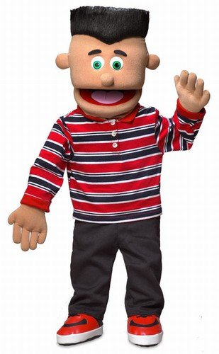 30'' Jose, Hispanic Boy, Professional Performance Puppet with Removable Legs, Full or Half Body
