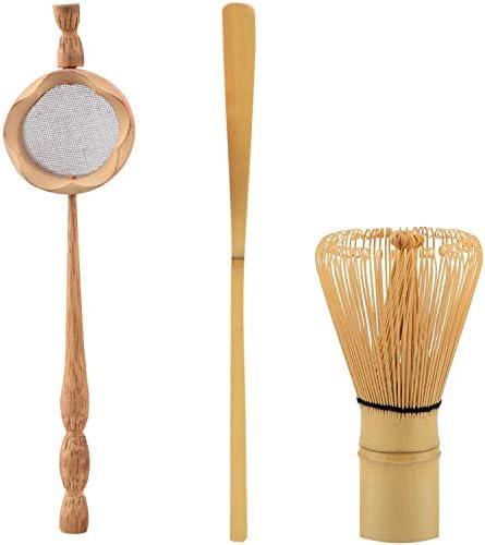 Senmubery Natuurlijke Bamboe Thee Zeef Matcha Garde Borstel Groene Thee Poeder Garde Scoop Set Thee Gebruiksvoorwerpen Set Keuken Accessoires 3 Stks