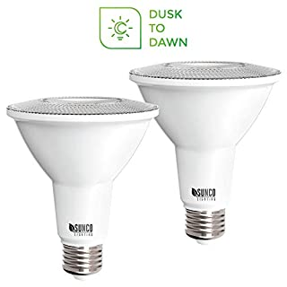 Sunco Lighting 2 Pack PAR30 LED Bulb, Dusk-to-Dawn Photocell Sensor, 11W=75W, 3000K Warm White, 850 LM, Auto On/Off Security Flood Light - UL