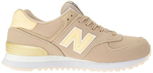 New Balance Femmes 574 Miami Paumes Pack Lifestyle Mode Sneaker Sable / Pollen