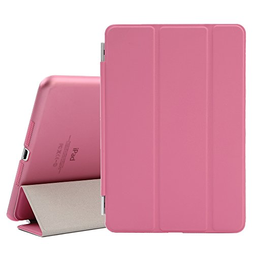 BESDATA Ultra Thin Magnetic Smart Cover (Wake/Sleep Function) & Clear Back Case for Apple iPad Mini 2 / Mini 3 (with Retina Display) + Screen Protector + Cleaning Cloth + Stylus (Pink) (Pink Ipad Mini Case compare prices)