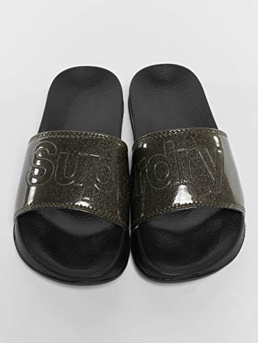 Pool Chanclas Hombre Superdry Negro Slide para adw00q4