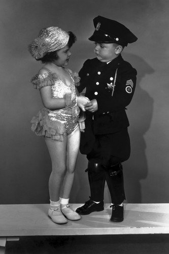 Our Gang children dressed up in cop suit/dancer 11x17 Mini -