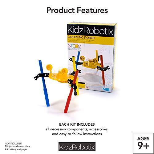 41jhpIpUvML - 4M Kidzrobotix Doodling Robot - DIY Science Engineering Robotics Kit - STEM Toys Gift for Kids & Teens, Boys & Girls (Packaging May Vary)