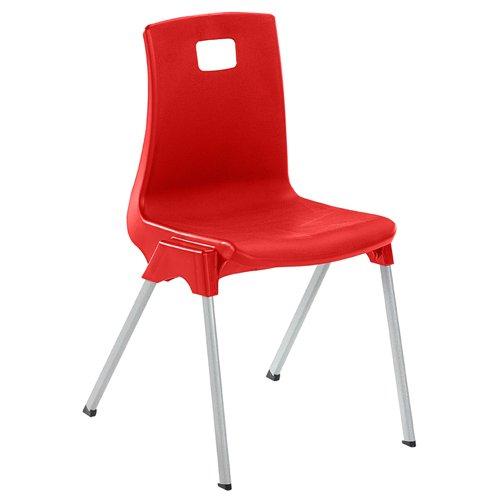 Metalliform ST5-Blue Standard Classroom Chair with 430 mm Seat, Size 5, Blue Metalliform Holdings Ltd ST5-BL-DP1